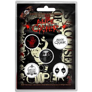Alice Cooper 5 Pin Badges in Pack (ro)